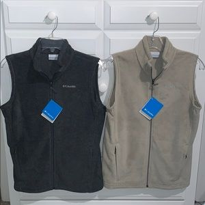 NWT New Youth Columbia Fleece Vests Lot Sz L 14-16